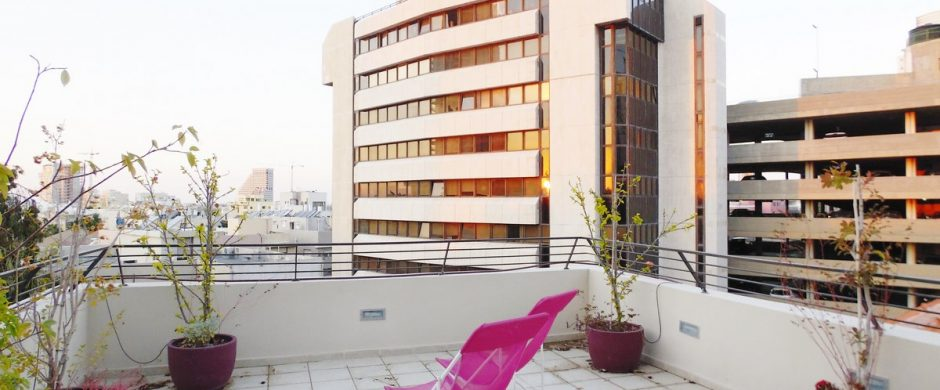 Apartment with balconies in a Bauhaus building
